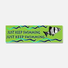 Just keep swimming bumpersticker Car Magnet 10 x 3