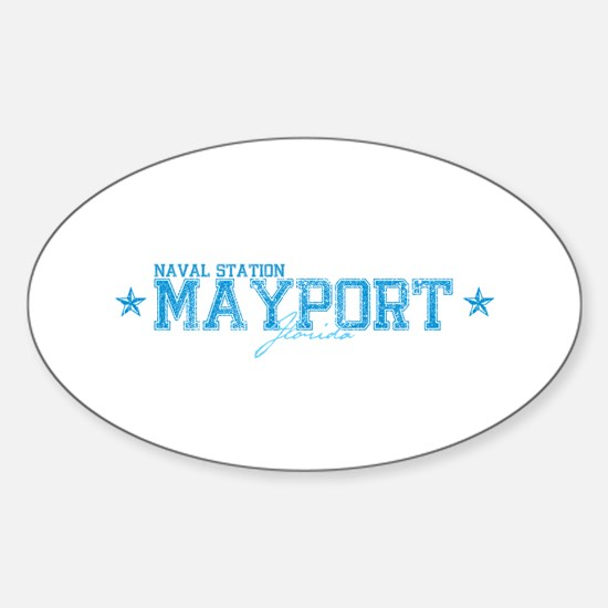NSmayport.png Sticker (Oval)