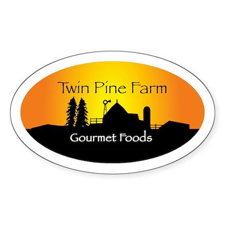 Oval Sticker, Twin Pine farmscape