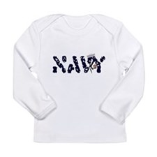 navy.jpg Long Sleeve Infant T-Shirt