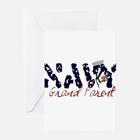 navygrandparent.jpg Greeting Card