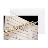 Music flute Greeting Cards (10 Pack)
