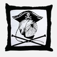Yarrrrn Pirate! Throw Pillow