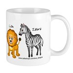 Animals (giraffe, elephant, lion, zebra)
