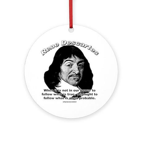René Descartes 01 Ornament (Round)