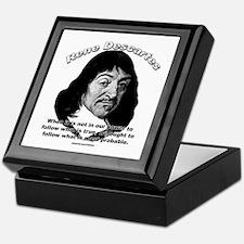 René Descartes 01 Keepsake Box