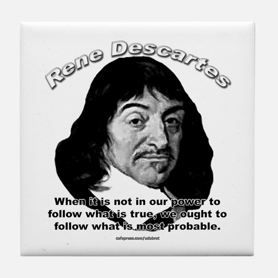 René Descartes 01 Tile Coaster