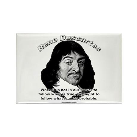René Descartes 01 Rectangle Magnet (100 pack)