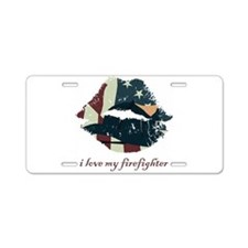 firefighterkiss.png Aluminum License Plate