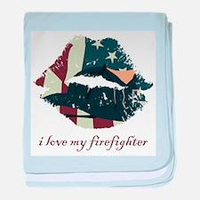 firefighterkiss.png baby blanket