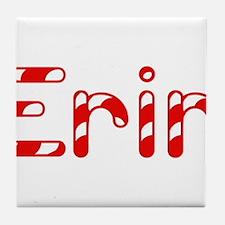 Erin - Candy Cane Tile Coaster