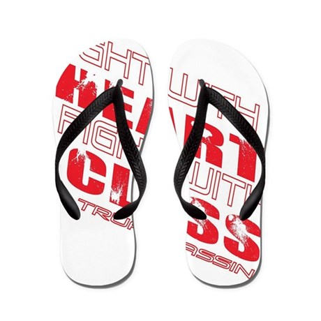 Fight with heart Flip Flops