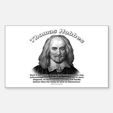 Thomas Hobbes 01 Rectangle Decal