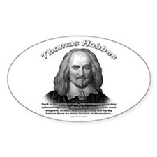 Thomas Hobbes 01 Oval Decal