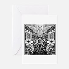 Tribal Art BW Greeting Cards (Pk of 20)