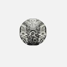 Tribal Art BW Mini Button
