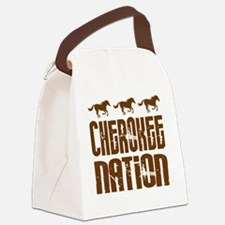 Cherokee Nation With Horses Canvas Lunch Bag
