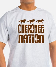 Cherokee Nation With Horses T-Shirt