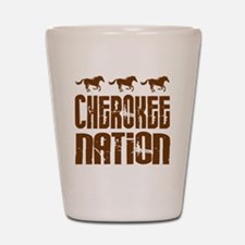 Cherokee Nation With Horses Shot Glass