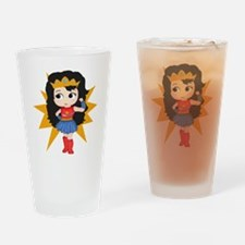 Super Girl Drinking Glass