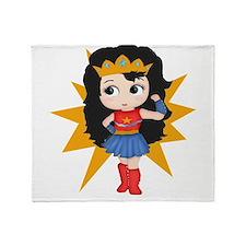 Super Girl Throw Blanket