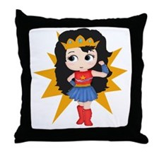 Super Girl Throw Pillow