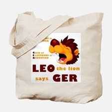 LEO Says GER Tote Bag