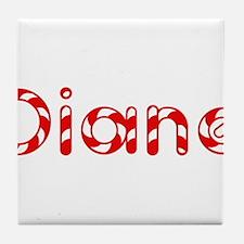 Diane - Candy Cane Tile Coaster