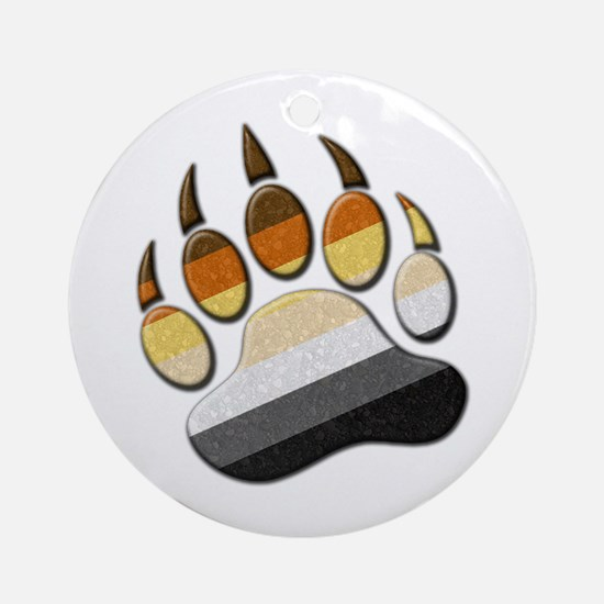Bear Paw Ornament (Round)