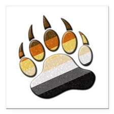 "Bear Paw Square Car Magnet 3"" x 3"""