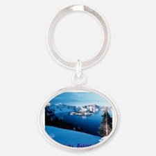 Crater Lake National Park Oval Keychain
