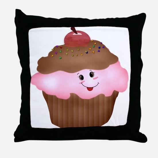 Sweet Cupcake Throw Pillow