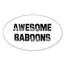Awesome Baboons Oval Decal