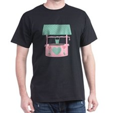 pastel wishing well with hearts T-Shirt