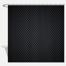 Carbon Mesh Pattern Shower Curtain