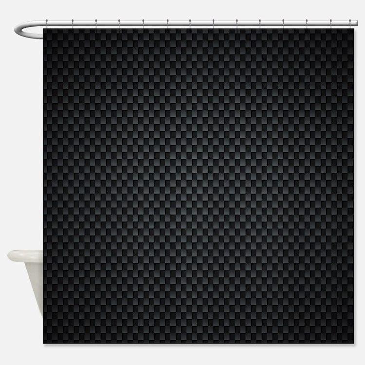 carbon fiber shower curtains carbon fiber fabric shower curtain liner. Black Bedroom Furniture Sets. Home Design Ideas