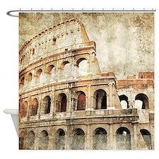 Vintage Roman Coloseum Shower Curtain