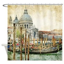 Vintage Venice Photo Shower Curtain