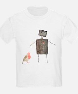 Robot and Bird T-Shirt
