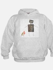 Robot and Bird Hoodie