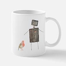 Robot and Bird Small Small Mug