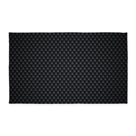 Carbon Mesh Pattern 3'x5' Area Rug
