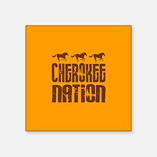 Cherokee Nation With Running Horses Sticker