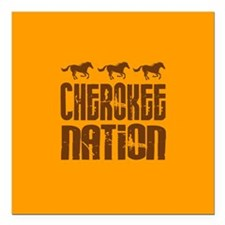 Cherokee Nation With Running Horses Square Car Mag
