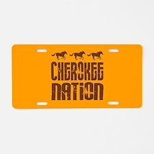 Cherokee Nation With Running Horses Aluminum Licen