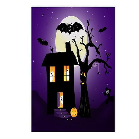 Halloween Pumpkin Haunted House Postcards (Package