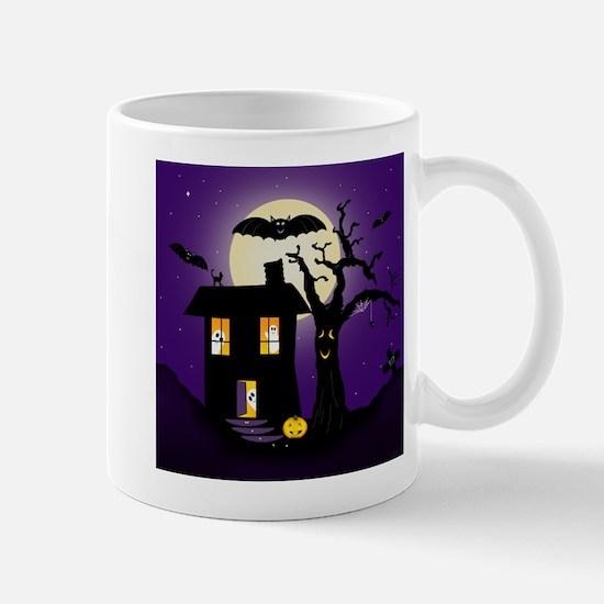 Halloween Pumpkin Haunted House Mug