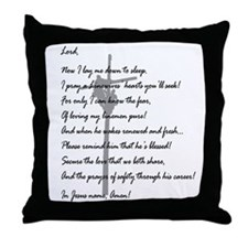Bordered Linewives' Prayer Throw Pillow