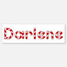 Darlene - Candy Cane Bumper Bumper Bumper Sticker