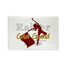 TJ Raider Color Guard Rectangle Magnet